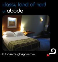 Top Secret Glasgow Quote Bubble showing interior, mid-range bedroom. Caption: classy land of nod