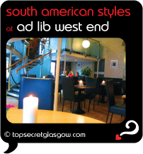 Top Secret Glasgow Quote Bubble showing warm interior decor