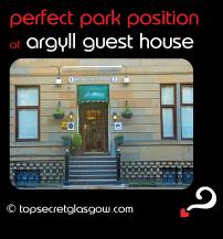 Top Secret Glasgow lozenge showing exterior. Caption: perfect park position