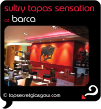 Top Secret Glasgow Quote Bubble showing lovely interior design.