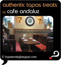 Top Secret Glasgow Quote Bubble showing cosy interior decor.