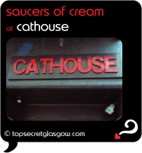 Top Secret Glasgow Quote Bubble, exterior photo of main door.