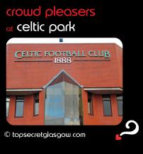 Top Secret Glasgow Quote Bubble showing exterior of main door. Caption: crowd pleasers
