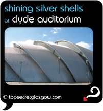 black speech bubble with exterior of distinctive armadillo shape, caption: shining silver shells