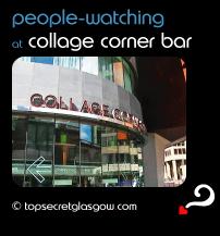 glasgow collage corner bar people watching