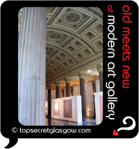 Top Secret Glasgow Quote Bubble showing interior of modern art gallery.