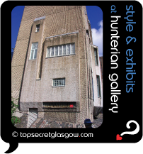 Top Secret Glasgow Quote Bubble showing Mackintosh House exterior in sun.