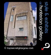 Top Secret Glasgow Quote Bubble showing Mackintosh House exterior in sun. Caption: style & exhibits