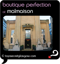Top Secret Glasgow Quote Bubble showing main facade from across the street,
