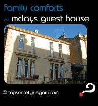 Top Secret Glasgow lozenge showing exterior in winter sun. Caption: family comforts