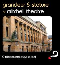 Top Secret Glasgow Quote Bubble showing impressive exterior. Caption: grandeur & stature