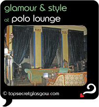 Top Secret Glasgow Quote Bubble showing interior of lounge bar.