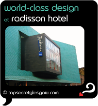 Top Secret Glasgow Quote Bubble showing unusual exterior of front facade.