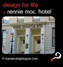 Top Secret Glasgow lozenge showing building exterior. Caption: design for life