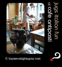 glasgow cafe antipasti jugs italian fun