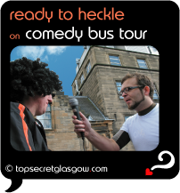 glasgow comedy bus tour ready to heckle