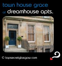 Top Secret  Glasgow lozenge showing main entrance. Caption: town house grace