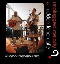 glasgow hidden lane cafe unplugged melody