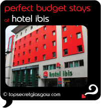 Top Secret Glasgow Quote Bubble showing exterior of hotel.