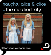 glasgow merchant city festival naughty alice and alice
