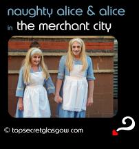 glasgow merchant city festival naughty alice and alice